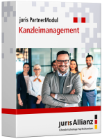 Abbildung: juris PartnerModul Kanzleimanagement